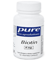 Biotin 8 mg / Pure Encapsulations / 120 caps