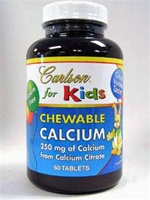 Chewable Calcium 250 mg / Carlson for kids /60 tablets