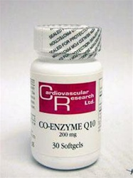 Co-enzyme Q10 (CoQ10) 200mg/Cardiovascular Reasearch/30 Softgels