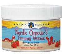 Nordic Omega-3 Gummy Worms / Nordic Naturals / 30 count