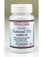 Natural D-3 1000 IU /Protocol/ 180 chews.