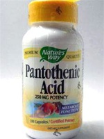Pantothenic Acid 250 mg /Nature's way/ 100 caps