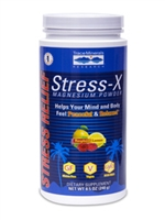 Stress -X Magnesium Powder 8.5oz/ Trace Minerals / Rasp-Lemon