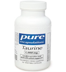 Taurine 1000 mg / Pure Encapsulations / 120 vcaps