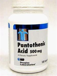 Pantothenic Acid 500 mg /Douglas Laboratories/ 100 caps