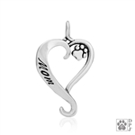 Sterling Silver Dog Mom Pendant -- new