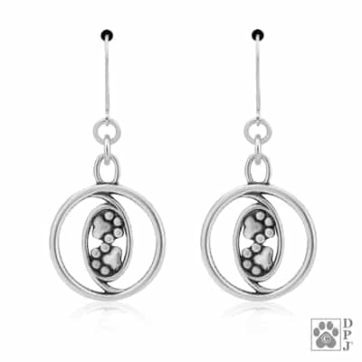Sterling Silver Together Forever, Earrings