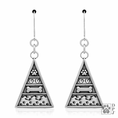 Sterling Silver Pyramid of Life Earrings