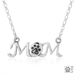 Sterling Silver Mom Necklace -- limited