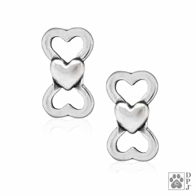 Sterling Silver I Love Treats Post Earrings