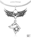 Sterling Silver Alaskan Klee Kai Pendant, w/Snowflake in Head, w/Tears In Heaven -- new