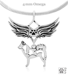 Sterling Silver Alaskan Klee Kai Pendant, w/Alaska in Body, w/Tears In Heaven -- new
