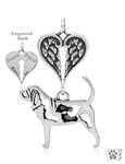 Sterling Silver Bloodhound w/Feet, Body w/Healing Angels Pendant -- new