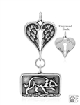 Sterling Silver Border Collie Sizzling Crouch, Body w/Healing Angels Pendant -- new