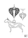 Sterling Silver Bull Terrier, Body w/Healing Angels Pendant -- new