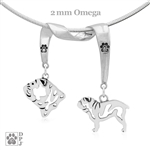 Bulldog Necklace, Bulldog Jewelry
