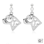 Bullmastiff Earrings, Bullmastiff Jewelry