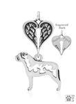Sterling Silver Bullmastiff, Body w/Healing Angels Pendant -- new