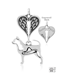 Sterling Silver Chihuahua, Smooth Coat w/Sombrero, Body w/Healing Angels Pendant -- new