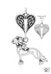 Sterling Silver Chinese Crested Hairless, Body w/Healing Angels Pendant -- new