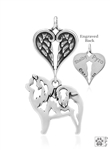 Sterling Silver Chow Chow, Body w/Healing Angels Pendant -- new