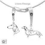 Dachshund Smooth Coat Necklace, Dachshund Smooth Coat Jewelry