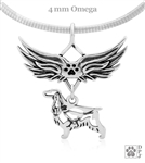 Sterling Silver English Cocker Spaniel, Pendant, w/Pheasant in Body, w/Tears In Heaven -- new