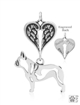 Sterling Silver French Bulldog, Body w/Healing Angels Pendant -- new