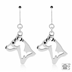 Parson Russell Terrier Smooth Coat Earrings