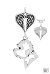 Sterling Silver West Highland Terrier Pendant, Head w/Healing Angels -- new