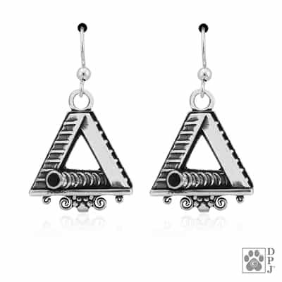 "Sterling Silver ""LG"" A-Frame and Tunnel Earrings"