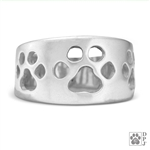 Wide Band Paw Ring