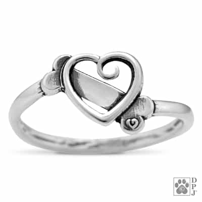 Sterling Silver K-9 Cupid Ring