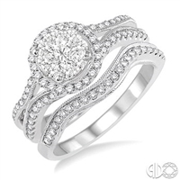 Ashi Diamonds Lovebright Invisible Set Diamond Engagement Set