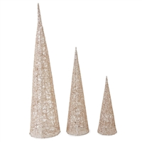Mud Pie decorative Gold Glitter Tree table sitters