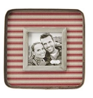 mud pie grain sack small square tin frame