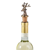 mud pie brass stag deer wine topper