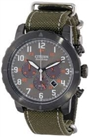 Men's Citizen Eco-Drive Military Green Watch