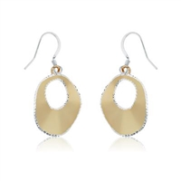 Gold Plated Sterling Silver Disc Earrings