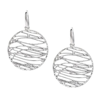 Zebra Stripe Sterling Silver Earrings