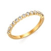 14k yellow gold diamond stackable band ring