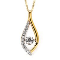 Shimmering Diamonds Yellow Gold 1/4 Carat Diamond Pendant