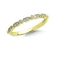 yellow gold vintage diamond stackable ring