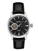 Men's Seiko Presage black leather automatic winding watch