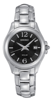 Seiko Core Solar Powered Black Dial Ladies Watch