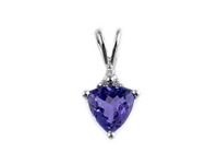White gold tanzanite necklace