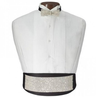 Swarovski Crystals Cummerbund and Bow set