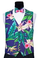 Island Floral Vest & Bow