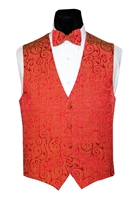 Red Flourish Vest & Bow