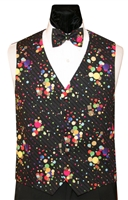 Rainbow Gold Constellations Vest & Bow